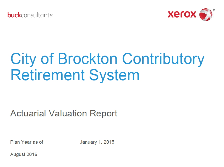 Actuarial Valuation Report  Brockton Retirement